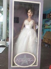"The Franklin Mint -  16"" Elizabeth Taylor - Vinyl Portrait Doll - Wedding Gown"