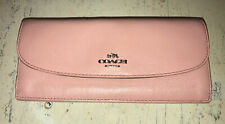 Coach New York Slim Envelope Wallet Petal Pink No. F52689 EUC