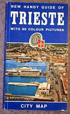 1974 TRIESTE ITALY Guide ITALIA Trst TRIEST Italian MAP City ADRIATIC SEA