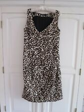 MARC CAIN ANIMAL LEOPARD PRINT DRESS SIZE N3 M UK 12 OCCASION CRUISE MAXMARA