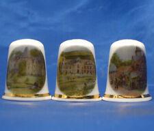 Birchcroft China Thimbles -- Set of Three -- French Chateau