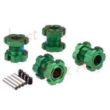 For TRAXXAS E-Revo 2.0 VXL Aluminum17MM Splined Wheel hubs&nuts green 86086-4 4P