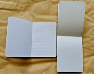 12 x A6 Refill Plain or Ruled Pads  Paper 100 Sheets per book, (200 sides)