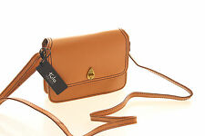 Tula Brand New Saddle Originals Compact Crossbody Bag In Tan Leather RRP £89.00