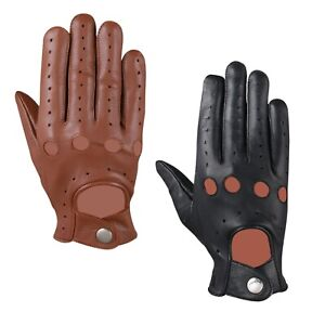 MENS CLASSIC DRIVING GLOVES SOFT GENUINE LAMBSKIN LEATHER DRESS WINTER GLOVES