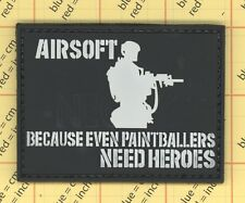PVC AIRSOFT because even paintballers need heroes Morale Patch rubber 16