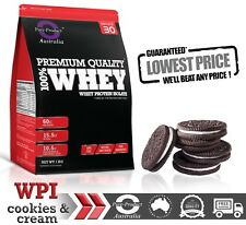 5KG WHEY PROTEIN ISOLATE POWDER  WPI  100% PURE - Cookies and Cream