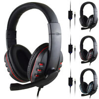 Gaming Headset 3.5mm Wired Mic Stereo Surround Headphone For PS4 Laptop Xbox one