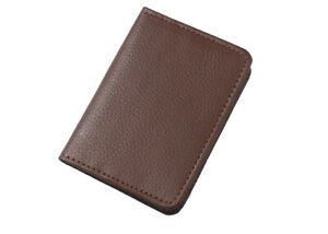 Geniune cowhideLeather Bifold ID Credit Card Wallet Slim Pocket Case Holder