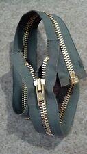 "VTG NOS Jacket Zipper 10x YKK JAPAN #8 Separating Metal BRASS 26"" OLIVE GREEN"
