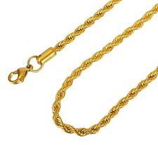 Kordelkette Edelstahl Silber Gelbgold vergoldet Anhänger Halskette Damen Herren
