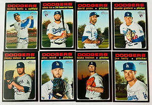2020 Topps Heritage High Number Los Angeles Dodgers Team Set(8) Rios, Betts🔥🔥