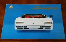 Lamborghini Countach LP500S brochure Prospekt, 1982