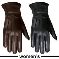 Women's Winter Dress Gloves Soft Thermal Lining Dressing Genuine Leather Glove