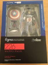 Marvel Avenger Figma action figure #226 Max Factory Captain America. New