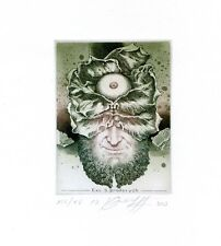 Limited Edition, Surrealistic Ex libris Etching by Juri Jakovenko, Belarus