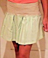 Doki Geki Girl's Junior Pleated Mini Skater Zip Skirt  Mint Pink  Sz S M L
