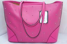 NEUF MCM Claudia Clous Sac fourre-tout sac à bandoulière rose logo sac à main