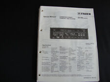 ORIGINAL SERVICE MANUAL Fisher DX 800