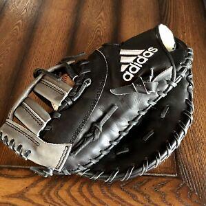 "Adidas EQT LHT First Base Glove Mitt 13"" Black Gray Excellent Condition Baseball"