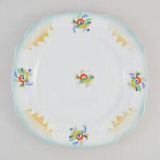 Schaller Bavaria - Teller Porzellan - Spritzdekor - Art Déco - Blumen - Pastell
