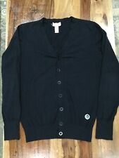 DIESEL MEN'S CARDIGAN SWEATER  BLACK SIZE MEDIUM 604