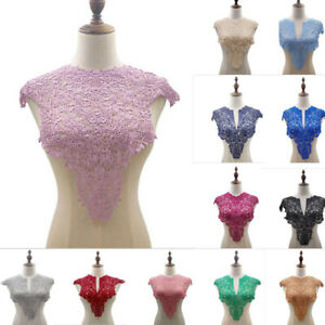 Multicolor Embroidery Lace Collar Trimming  Dresses DIY White Pink Colors