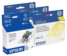 Epson 32 42 Ink Cartridge 4-Pack GENUINE NEW  for Stylus C82 CX5200 CX5400