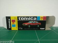 REPRODUCTION BOX for Tomica Black Box No.78 Toyota Corolla Levin 3door