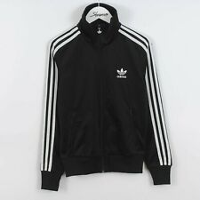 Womens Adidas Originals Track Jacket Top in Black & White UK 8   Vintage Retro