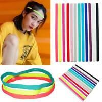 Men Women Sports Yoga Headband Stretch Hairband Elastic Hair Band Rubber Turban