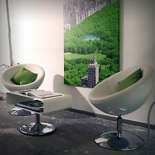 DESIGNER SHELL CHAIR | white-white | retro lounge design, bowl armchair, stool