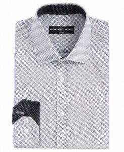 Society of Threads Mens Dress Shirt Black White Size Large L 18- 18 1/2 $50 090