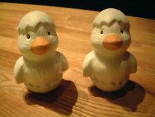 2 Küken Enten Entchen weiß Keramik H 9,5 x B 6 x T 5,5 cm <Neu>