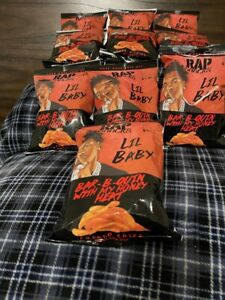"""Rap Snacks NEW FLAVOR """"Lil Baby Bar-B-Quin with Honey Heat"""" 10 bags"""