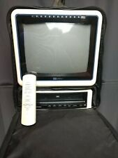 """FULLY FUNCTIONAL! 11"""" CRT TV VCR REMOTE MPO Videotronics Portable Gaming VTG"""