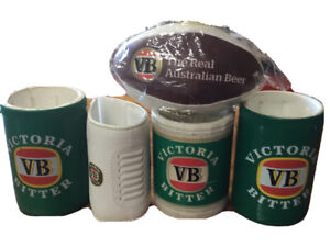 Victoria Bitter Stubby Cooler 4 Pack And Footy - Retro