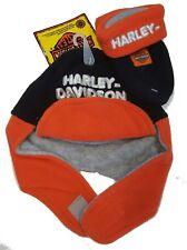 Harley-Davidson Logo Infant Boy Fleece Winter Hat & Mitten Gift Set - Flames
