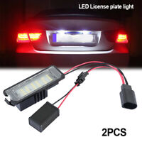 2x LED Number License Plate Light Lamp For VW GOLF MK4 MK5 Seat  polo Eos Error