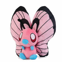 7'' Anime Pokemon Pink Shiny Butterfree Plush Doll Pocket Monster Toy Kid's Gift