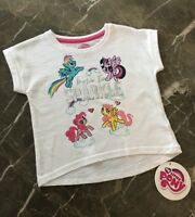 NEW BABY GIRLS SIZE 12-18M 18-24M OFFICAL MY LITTLE PONY WHITE T-SHIRT TOP