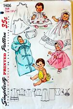 Rare! Vintage Doll Clothes Sewing Pattern ~ You Pick! ~ Cut & Complete