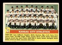 1956 Topps #236 Kansas City Athletics EX X1288140