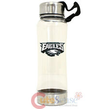 Philadelphia Eagles  Clip On Water Bottle Clear NFL Logo 16oz Drink Container
