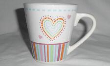 LOVE HEART MUG design - NEW - 12oz 355mL water coffee/tea cup gift home/office B