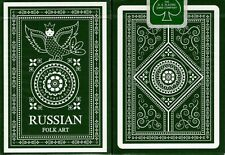 Russian Folk Art Limited Edition Black Playing Cards