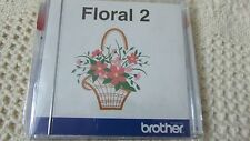 RARE Brother Embroidery Card Floral  OOP Number 2 EXC Condition BRAND NEW SEALED