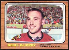 1966 67 TOPPS HOCKEY #115 DENIS DEJORDY NM CHICAGO BLACK HAWKS CARD FREE SHIP