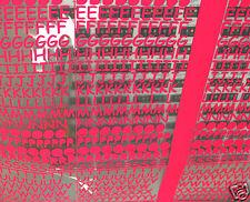 5 Lettres Fluo FLEX THERMOCOLLANT 15mm lot de 5 caractères identiques hotfix