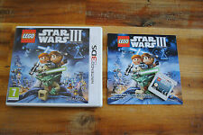 Jeu LEGO STAR WARS III 3 THE CLONE WARS pour Nintendo 3DS COMPLET version FR